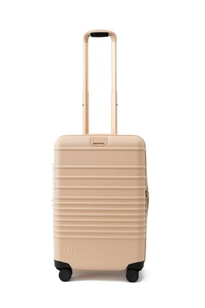 Beis Travel   The Carry-On Roller in Beige – Béis Travel