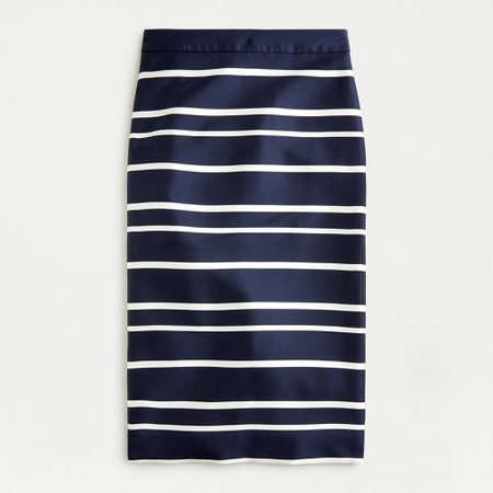 J.Crew: Pencil Skirt In Jacquard Stripe For Women
