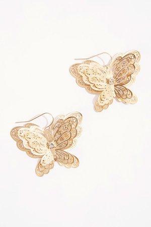 Filigree Butterfly Pendant Earrings | Forever 21