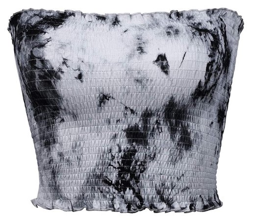 black and white tie dye bandeau top