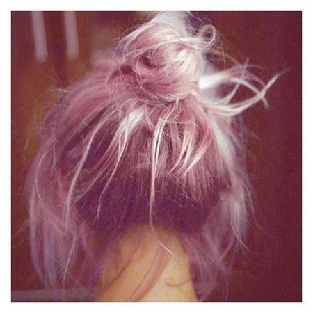 Pink Hair Messy Bun