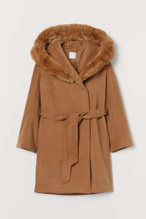 Hooded Coat - Beige
