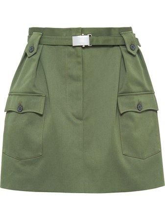 Miu Miu Drill Skirt - Farfetch
