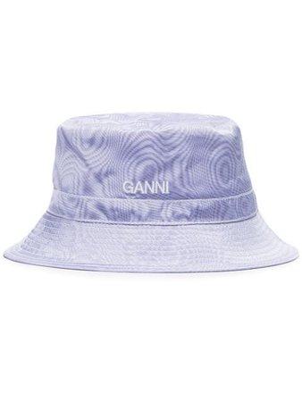 GANNI Sombrero De Pescador De Moiré - Farfetch