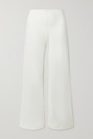 Kersti Woven Wide-leg Pants - White