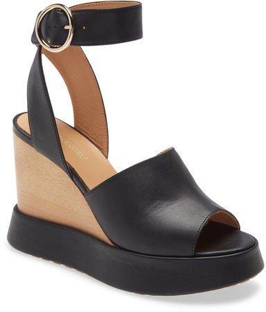 Camacua Ankle Strap Wedge Sandal
