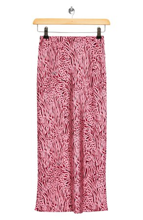 Topshop Zebra Bias Skirt | Nordstrom