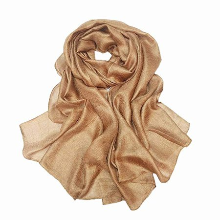 Amazon.com: Bettli Womens Extra Large Scarf Shawl Wraps Pashminas Solid Soft Silky for Bridal Evening Wedding Party (gold): Home & Kitchen
