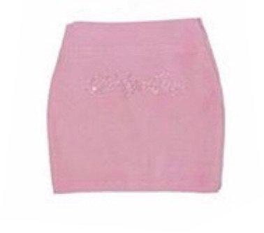 baby pink rhinestone bedazzled babygirl tracksuit mini skirt