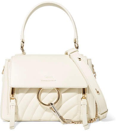 Faye Day Small Quilted Leather Shoulder Bag - White