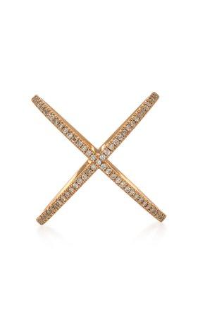 Eva Fehren X 18K Rose Gold and Diamond Ring