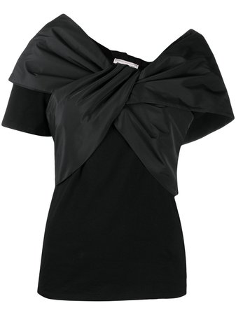Shop black Alexander McQueen ruched crossover blouse with Express Delivery - Farfetch