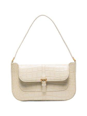 BY FAR, crocodile-effect Leather Shoulder Bag