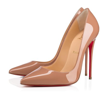 So Kate 120 Nude / Black Patent Leather - Women Shoes - Christian Louboutin
