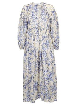 Zimmermann Zimmermann Verity Gathered Yoke Dress - Bluebird - 10977603   italist