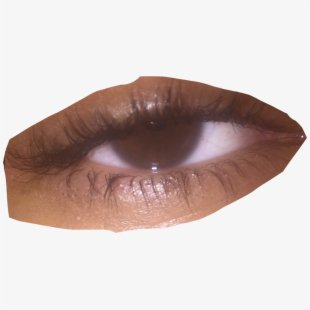 #eyes #aesthetic #browneye #sad #edgy #freetoedit - Mascara , Transparent Cartoon, Free Cliparts & Silhouettes - NetClipart