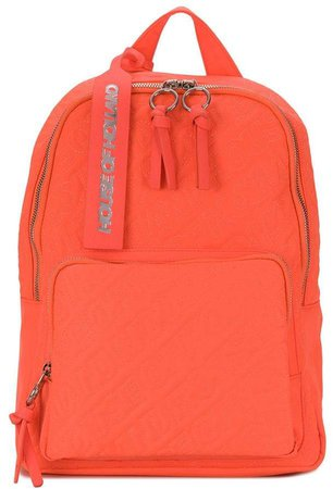 logo embroidered backpack