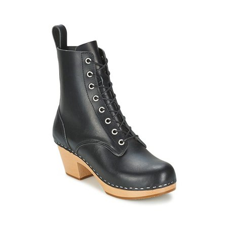 Stylish Swedish Hasbeens Lilian Ankle Boots Black For Women :