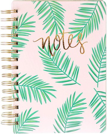 Amazon.com : Palms Pink Spiral Notebook Study Journal School Work Palm Office Decor Florida South Leaves Peaceful Writing College : Office Products