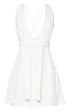 White Skater Dress | PrettyLittleThing
