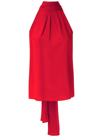 Shop red Eva silk sleeveless blouse with Express Delivery - Farfetch