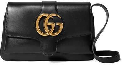 Arli Small Leather Shoulder Bag - Black