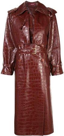 Eva belted trench coat
