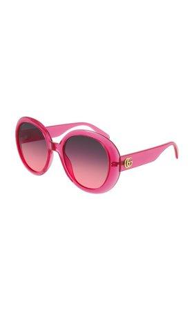 Oversized Round-Frame Sunglasses By Gucci   Moda Operandi