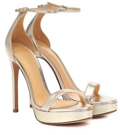 Cindy Metallic Leather Sandals | Alexandre Birman - Mytheresa