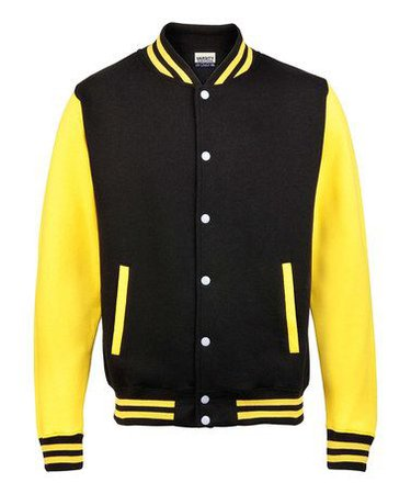 black and yellow letterman jacket woman - Google Search