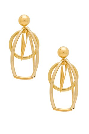 Caged Circle Earrings