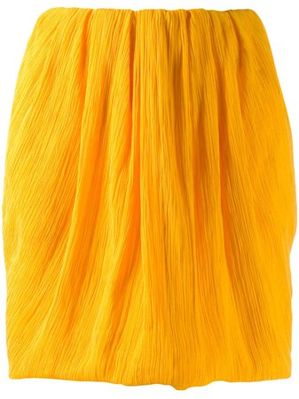 Nina Ricci Micro-Pleated Mini Skirt 20PCJU004CO0929U6069 Orange   Farfetch