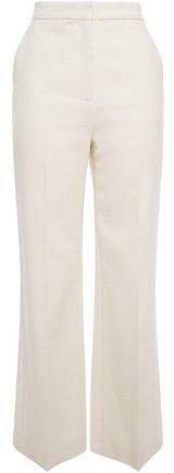 Cotton-blend Boucle Flared Pants