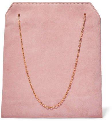 Lunch Bag Small Suede Tote - Pink