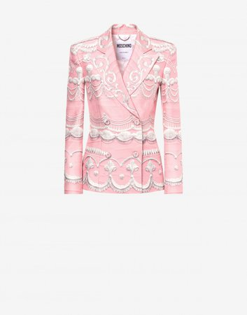Cady jacket Icing Print | Moschino Official Online Shop