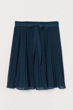 Pleated Skirt - Teal - Ladies | H&M US