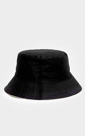 White Cotton Reversible Bucket Hat   PrettyLittleThing USA