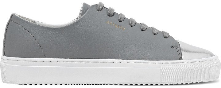 Metallic And Smooth Leather Sneakers