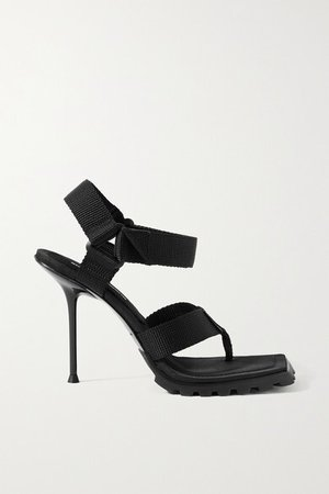 Julie Canvas Sandals - Black
