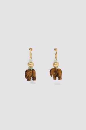 ELEPHANT EARRINGS | ZARA United States gold