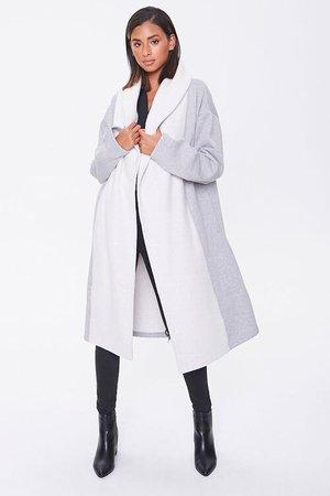 Heathered Colorblock Longline Coat