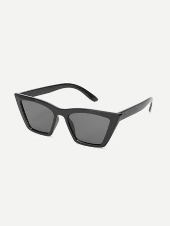 Plain Frame Flat Lens Sunglasses | SHEIN
