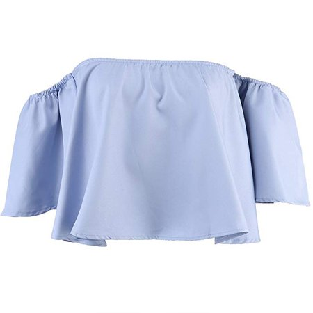 Women's Off Shoulder Tops Fashion Shirt Casual Strapless Blouses at Amazon Women's Clothing store: