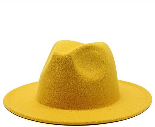 yellow fedora hat womens - Google Search
