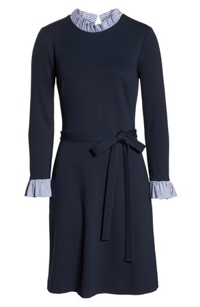 1901 Long Sleeve Ruffle Detail Shirtdress (Regular & Petite)   Nordstrom