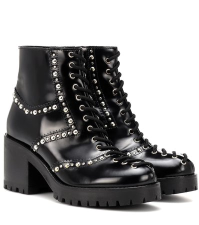 MCQ ALEXANDER MCQUEEN Hannah studded leather ankle boots