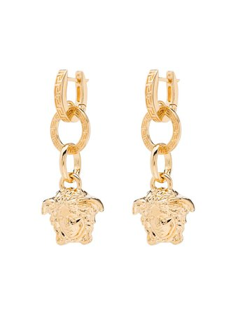 Versace Medusa Drop Earrings Ss20 | Farfetch.com