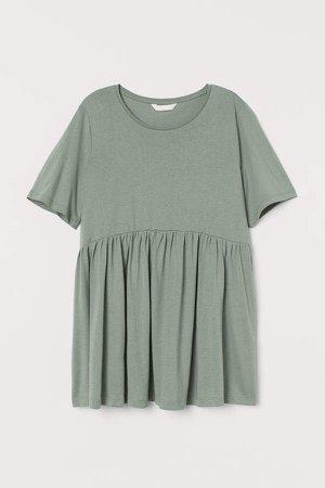 MAMA Cotton-blend Jersey Top - Green