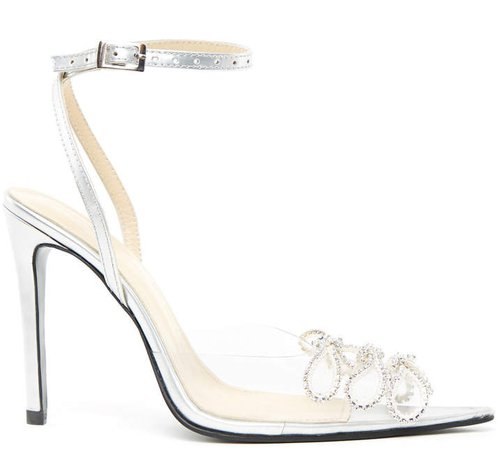 Mach & Mach Crystal Transparent Pumps Size: 36
