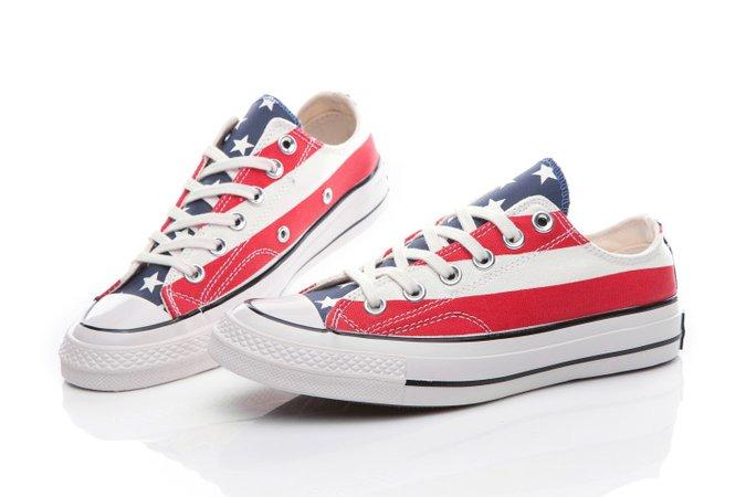 Converse Chuck Taylor All Star Americana USA Flag Low Top Canvas Shoes [157575C] - $48.00 : California Converse, Converse Ofiicial in America,California